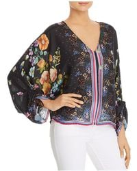 Johnny Was - Forest Printed-silk Blouse - Lyst
