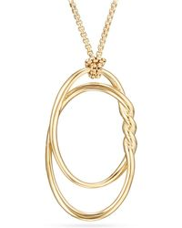 David Yurman - Continuance Pendant Necklace In 18k Gold - Lyst