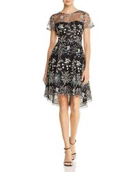 Adrianna Papell - Embroidered Tulle Dress - Lyst