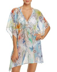 121591f88443e Bloomingdale s · Echo - Seaside Floral Tunic Swim Cover-up - Lyst