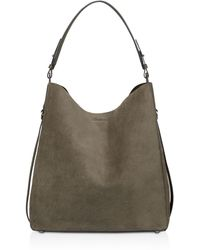 AllSaints - Paradise Suede North/south Tote - Lyst