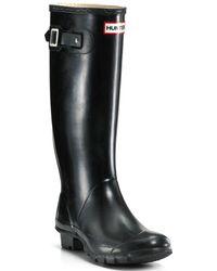 HUNTER Women's Original Tall Gloss Rain Boots - Black