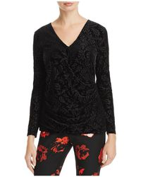 Foxcroft - Jae Burnout Velvet Crossover Top - Lyst