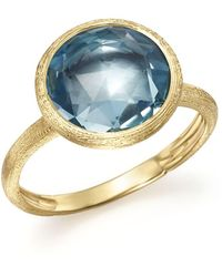 Marco Bicego - 18k Yellow Gold Jaipur Blue Topaz Ring - Lyst