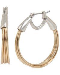 Robert Lee Morris - Two-tone Wire Hoop Earrings - Lyst