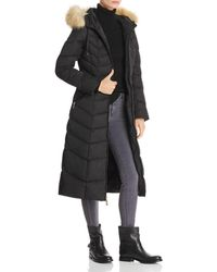 T Tahari - Jacqueline Faux Fur Trim Maxi Puffer Coat - Lyst