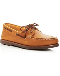 Sperry Top-Sider - Men's Gold Authentic Original Two Eye Leather Boat Shoes - Lyst