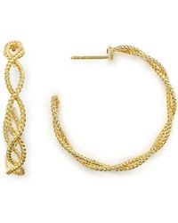 Roberto Coin - 18k Yellow Gold New Barocco Braided Hoop Earrings - Lyst