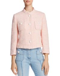 Boutique Moschino - Cropped Tweed Jacket - Lyst