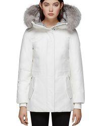 Mackage - Danika-x Fox Fur Trim Down Coat - Lyst