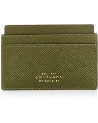 Smythson - Leather Card Case - Lyst