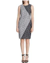 CALVIN KLEIN 205W39NYC - Sleeveless Dot Shift Dress - Lyst