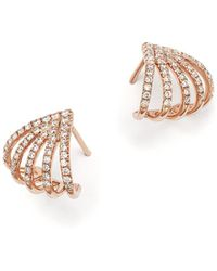 Bloomingdale's - Diamond Micro Pavé Earrings In 14k Rose Gold, .40 Ct. T.w. - Lyst