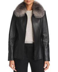 Maximilian - Fox Fur-collar Leather Jacket - Lyst