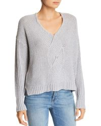 Moon & Meadow - Angie Cable Twist-front Sweater - Lyst