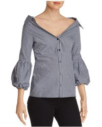 Bailey 44 - Bleeding Heart Gingham Off-the-shoulder Top - Lyst