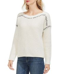Vince Camuto - Cotton Boat-neck Jumper - Lyst