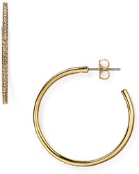 Nadri - Pavé Hoop Earrings - Lyst