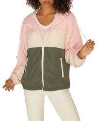 Sanctuary - Neopolitan Colorblock Zip Front Hooded Jacket (regular & Petite) - Lyst
