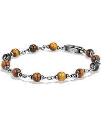 David Yurman - Spiritual Beads Rosary Bracelet In Tiger's Eye - Lyst