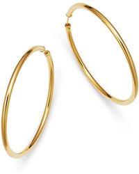 Moon & Meadow - Endless Hoop Earrings In 14k Yellow Gold - Lyst