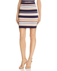 Bardot - Multi-stripe Knit Mini Skirt - Lyst