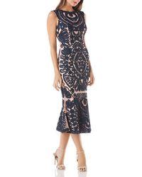 JS Collections - Soutache Midi Dress - Lyst