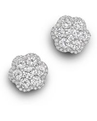 Bloomingdale's - Diamond Flower Cluster Stud Earrings In 14k White Gold, 2.25 Ct. T.w. - Lyst