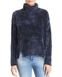 Aqua - Chenille Turtleneck Sweater - Lyst