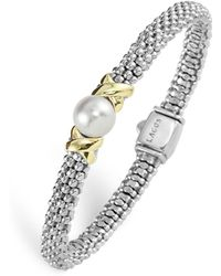 "Lagos - Sterling Silver ""luna"" Cultured Freshwater Pearl Rope Bracelet - Lyst"