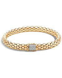 John Hardy - 18k Yellow Gold Dot Small Chain Bracelet With Diamonds - Lyst