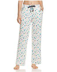 Jane & Bleecker New York | Printed Sateen Pajama Pants | Lyst