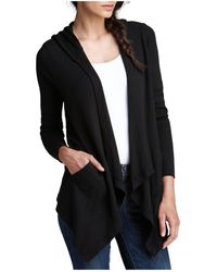 Splendid - Cardigan - Hooded Drapey Front Thermal - Lyst