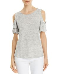 Generation Love - Luna Embellished Cold-shoulder Tee - Lyst