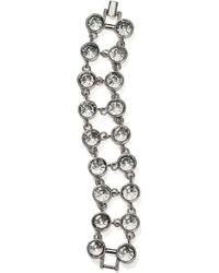 Aqua - Two Row Crystal Bracelet - Lyst