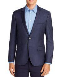 HUGO Arti Houndstooth Check Extra Slim Fit Suit Jacket - Blue