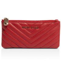 Karen Millen - Quilted Leather Wallet - Lyst