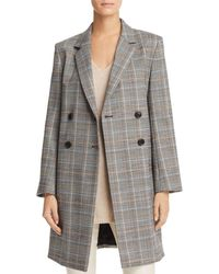Theory - Plaid Double-breasted Jacket - Lyst