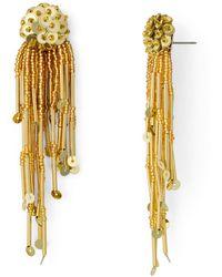Kate Spade - Beaded Tassle Earrings - Lyst