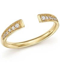 Zoe Chicco - 14k Gold And Diamond Open Ring - Lyst
