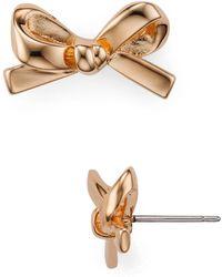 Kate Spade - Bow Stud Earrings - Lyst
