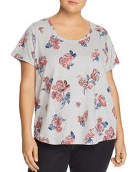Lucky Brand - Tossed Roses Tee - Lyst