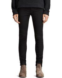 AllSaints - Boda Cigarette Slim Fit Jeans In Jet Black - Lyst