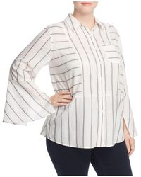 Vince Camuto Signature - Striped Bell Sleeve Blouse - Lyst