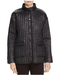 Eileen Fisher - Quilted Stand-collar Jacket - Lyst