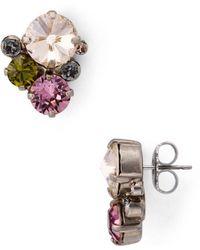 Sorrelli - Round Crystal Earrings - Lyst