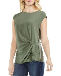 Vince Camuto - Tie-front Top - Lyst