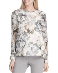 Calvin Klein - Ruched Floral Print Top - Lyst