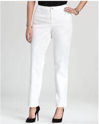Lafayette 148 New York - Curvy Slim Leg Jeans In White - Lyst