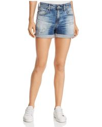 AG Jeans - Hailey Ex-boyfriend Roll-up Denim Shorts In 15 Years Undercool - Lyst